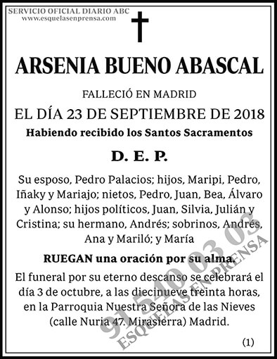 Arsenia Bueno Abascal